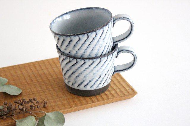 美濃焼 スパイラルマグ 【A】 ホワイト 陶器  画像6