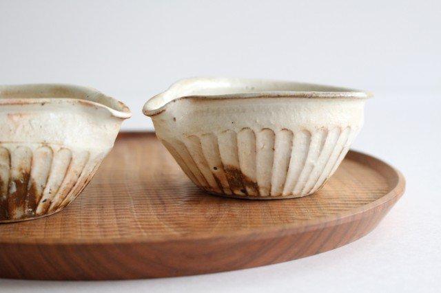 鉄散 しのぎ片口豆鉢 陶器 古谷製陶所