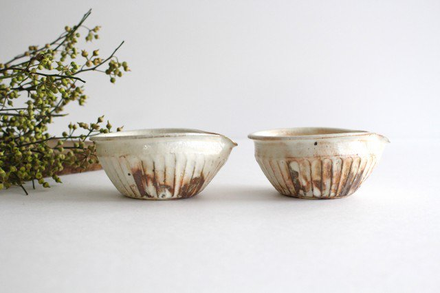 鉄散 しのぎ片口豆鉢 陶器 古谷製陶所 画像3