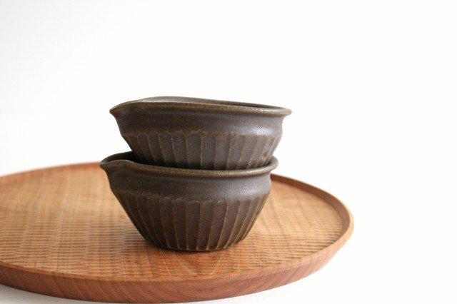 錆釉 しのぎ片口豆鉢 陶器 古谷製陶所 画像3