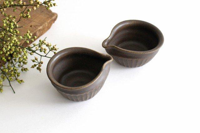 錆釉 しのぎ片口豆鉢 陶器 古谷製陶所 画像4