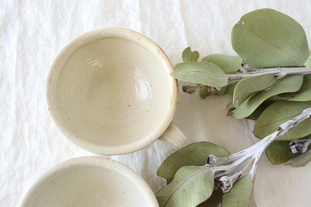 鉄散 斜めしのぎ手付スープカップ 陶器 古谷製陶所 画像2