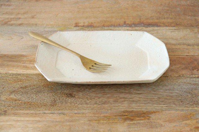 鉄散 8角長方皿 小 陶器 古谷製陶所 画像2