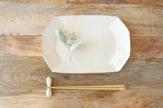 鉄散 8角長方皿 小 陶器 古谷製陶所 画像6