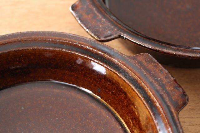 飴釉 耐熱グラタン皿 21cm 陶器 古谷製陶所 画像3