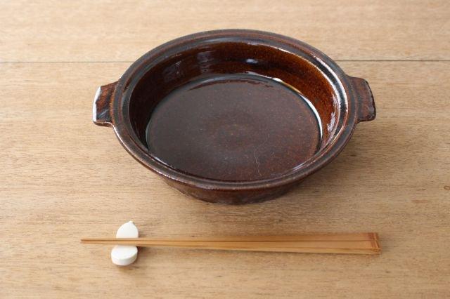 飴釉 耐熱グラタン皿 21cm 陶器 古谷製陶所 画像4