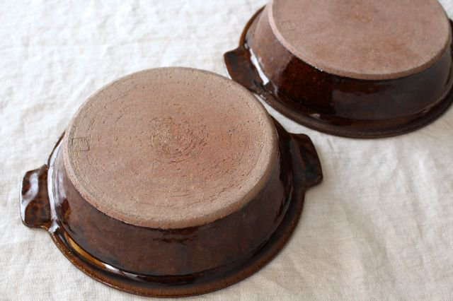 飴釉 耐熱グラタン皿 21cm 陶器 古谷製陶所 画像5