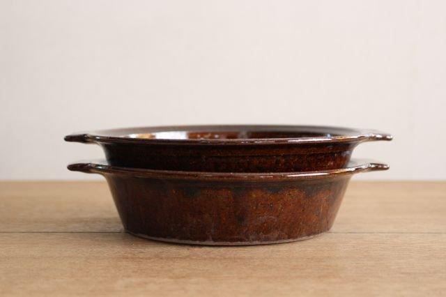 飴釉 耐熱グラタン皿 21cm 陶器 古谷製陶所 画像6