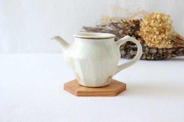 鉄散 面取ポット 低 陶器 古谷製陶所