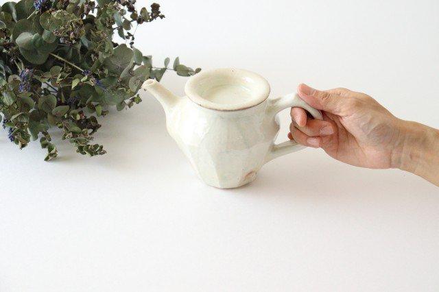 鉄散 面取ポット 低 陶器 古谷製陶所 画像3