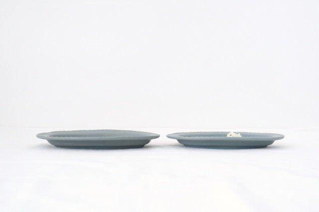 slants オーバル ブルーグレー 磁器 KANEAKI SAKAI POTTERY 画像2