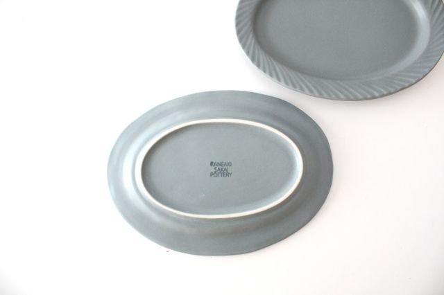 slants オーバル ブルーグレー 磁器 KANEAKI SAKAI POTTERY 画像6