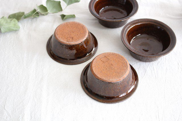 飴釉 耐熱豆鉢 陶器 古谷製陶所 画像6
