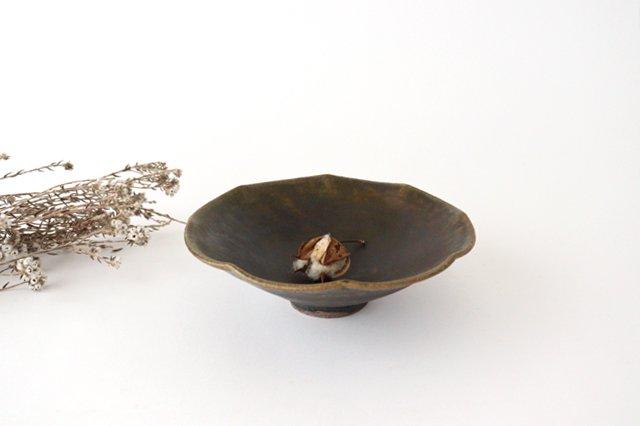錆釉 輪花小鉢 陶器 古谷製陶所