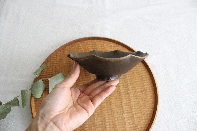 錆釉 輪花小鉢 陶器 古谷製陶所 画像5