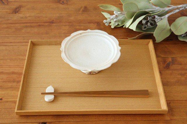 鉄散 彫刻高台皿 陶器 古谷製陶所 画像3