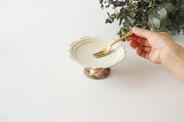 鉄散 彫刻高台皿 陶器 古谷製陶所 画像5