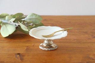 鉄散 彫刻高台皿 陶器 古谷製陶所商品画像