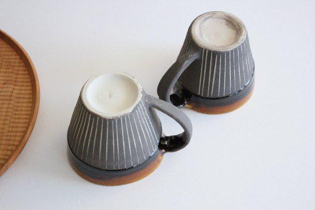 マグカップ ストライプ 半磁器 東月窯 久保 雅裕 画像4