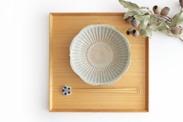 輪花鉢 墨入貫入 陶器 はなクラフト 画像2