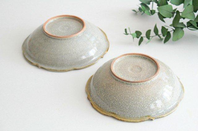 輪花鉢 墨入貫入 陶器 はなクラフト 画像5