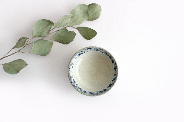 3寸豆皿 花唐草紋 陶器 石井桃子