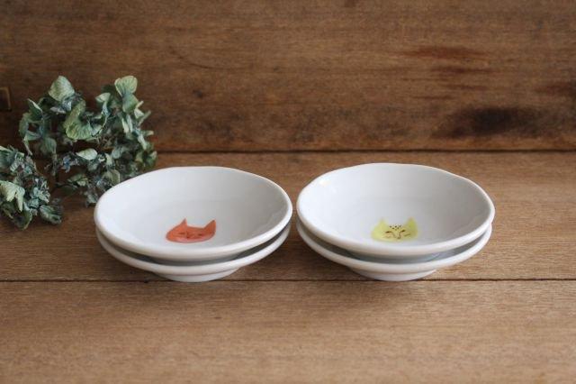 九谷焼 ハレクタニ ネコ豆皿 4枚セット 磁器 画像2