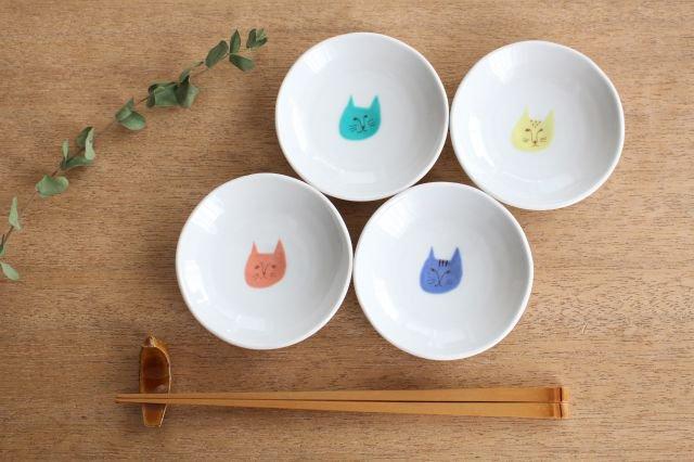 九谷焼 ハレクタニ ネコ豆皿 4枚セット 磁器 画像3