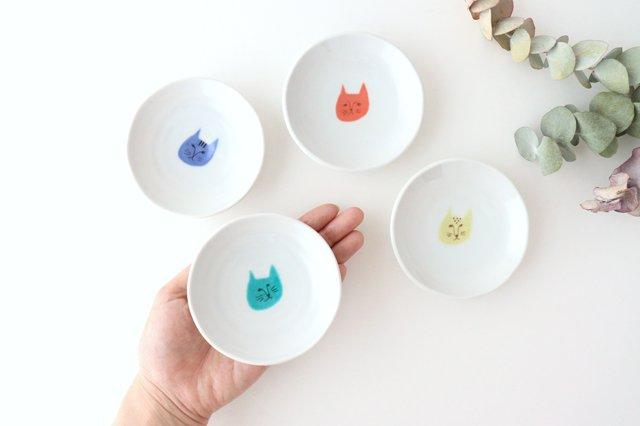 九谷焼 ハレクタニ ネコ豆皿 4枚セット 磁器 画像4