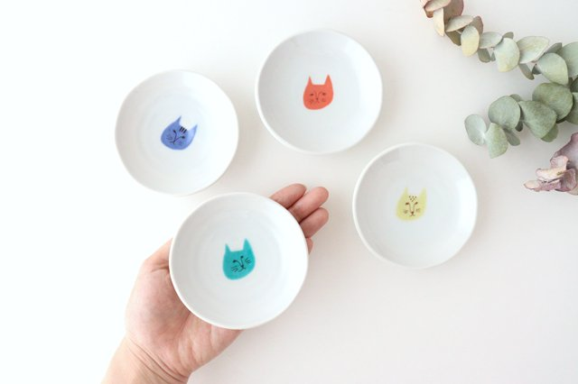 ネコ豆皿 4枚セット 磁器 ハレクタニ 九谷焼 画像4