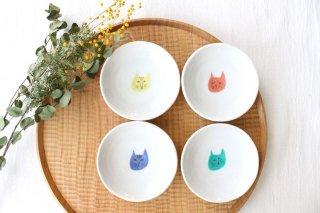 ネコ豆皿 4枚セット 磁器 ハレクタニ 九谷焼商品画像