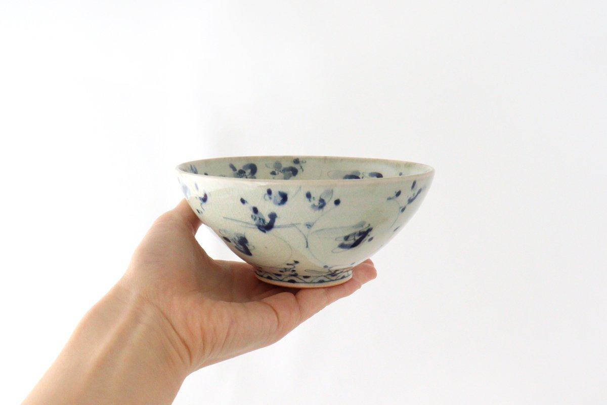 4.5寸鉢 花唐草紋 陶器 石井桃子 画像2