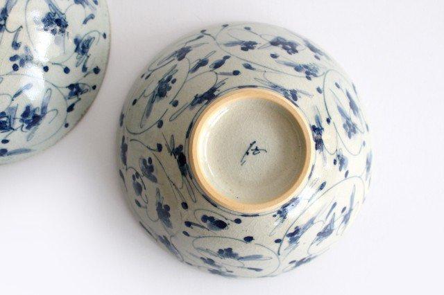 4.5寸鉢 花唐草紋 陶器 石井桃子 画像4