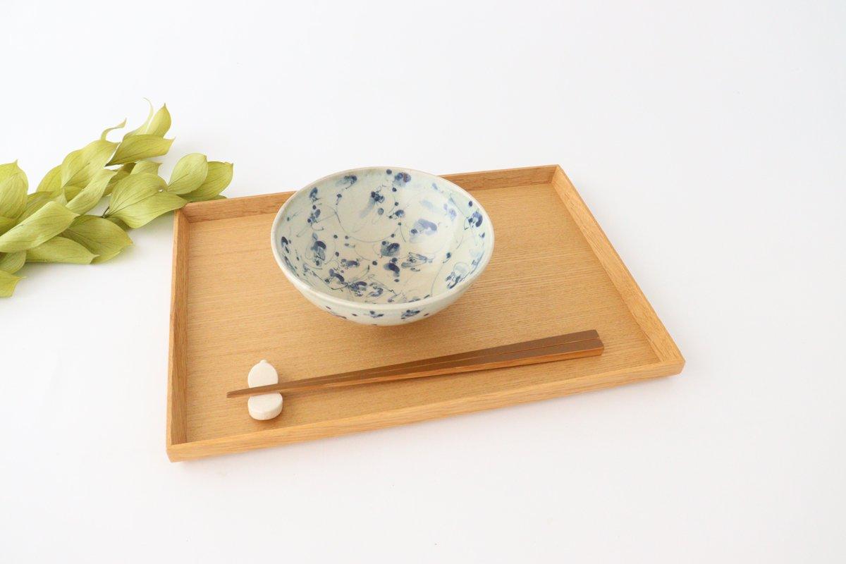 4.5寸鉢 花唐草紋 陶器 石井桃子 画像5