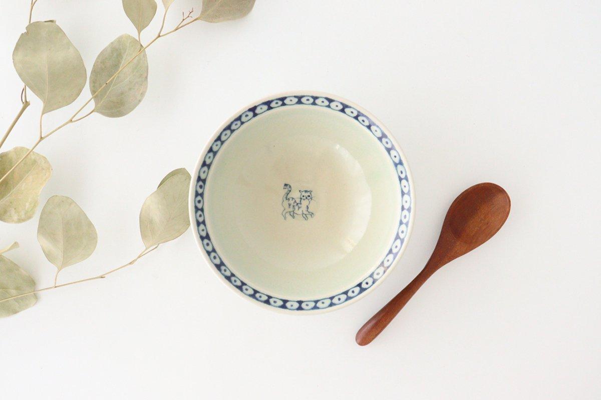 5寸リム鉢 ネコ柄 陶器 石井桃子