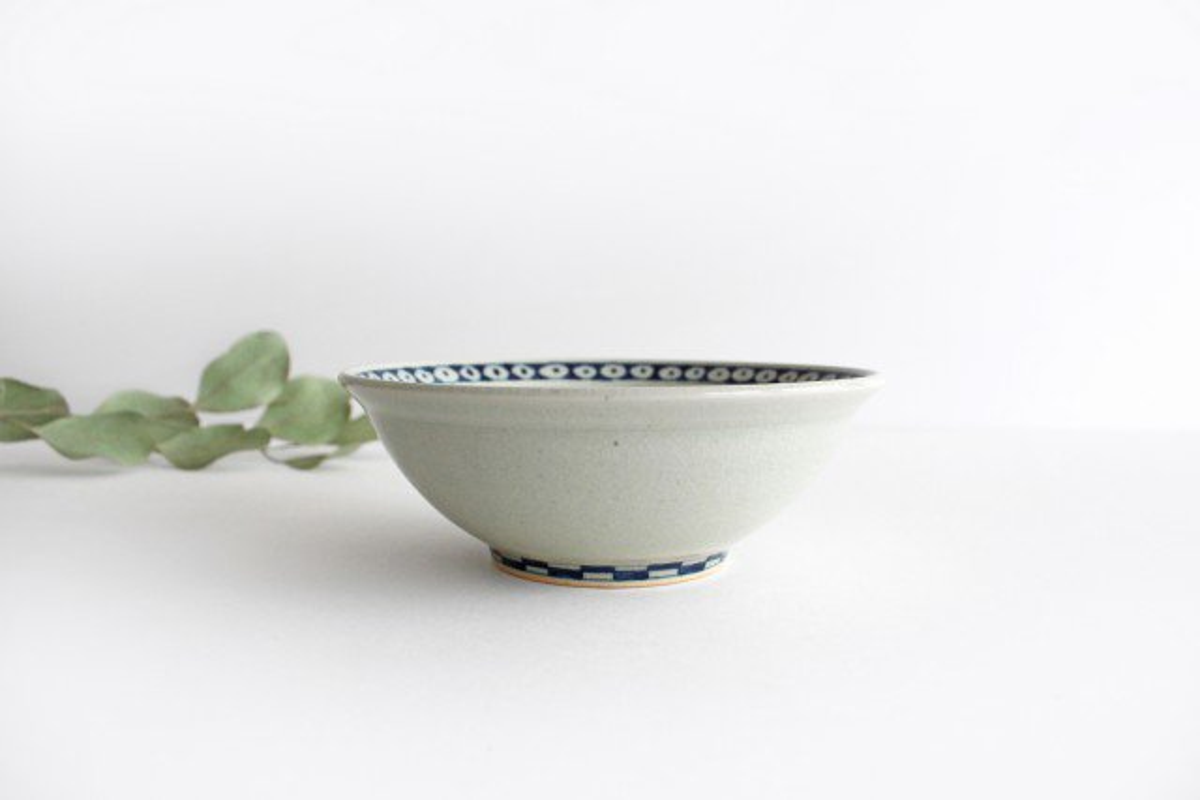 5寸リム鉢 ネコ柄 陶器 石井桃子 画像2