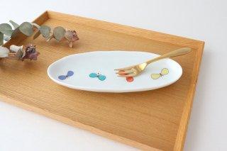 九谷焼 ハレクタニ チョウ楕円皿 L 磁器商品画像