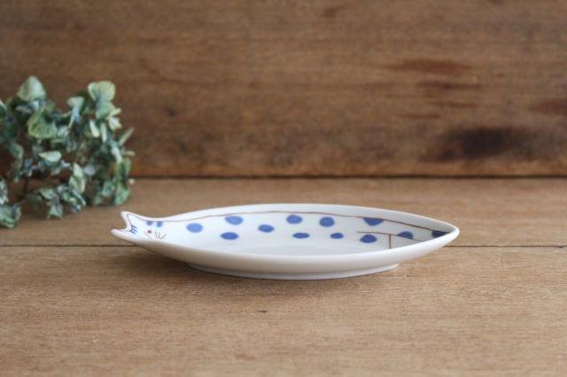 九谷焼 ハレクタニ 子ネコ皿 ブルー 磁器 画像2