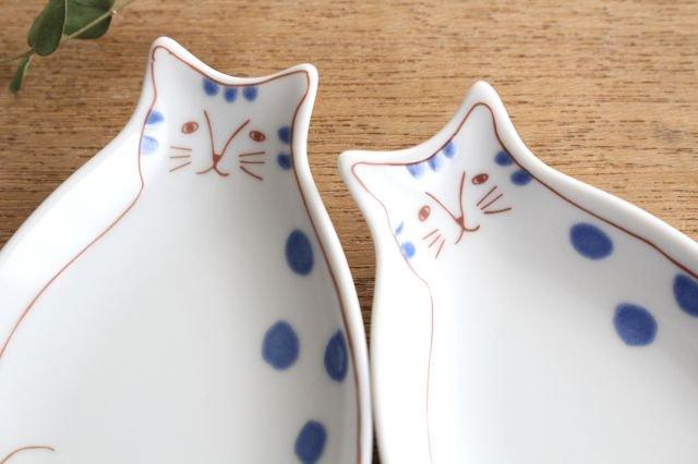 九谷焼 ハレクタニ 子ネコ皿 ブルー 磁器 画像4