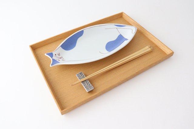 九谷焼 ハレクタニ ネコ皿 ブルー 磁器 画像4