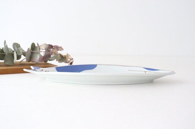 九谷焼 ハレクタニ ネコ皿 ブルー 磁器 画像5