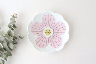 九谷焼 ハレクタニ ハナ取り皿 ピンク 磁器商品画像