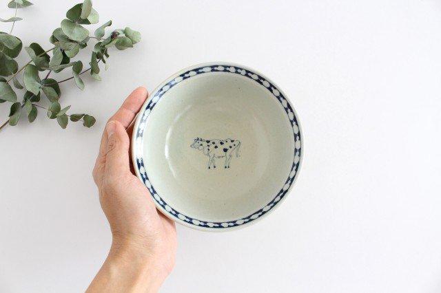 5寸リム鉢 ウシ柄 陶器 石井桃子 画像3