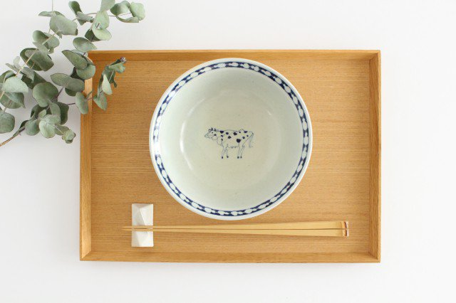 5寸リム鉢 ウシ柄 陶器 石井桃子 画像6