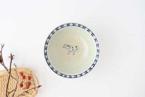 5寸リム鉢 ウシ柄 陶器 石井桃子商品画像