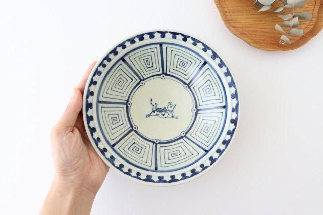 6寸リム鉢 犬猿柄 陶器 石井桃子 画像3