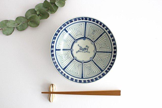 6寸リム鉢 犬猿柄 陶器 石井桃子 画像6