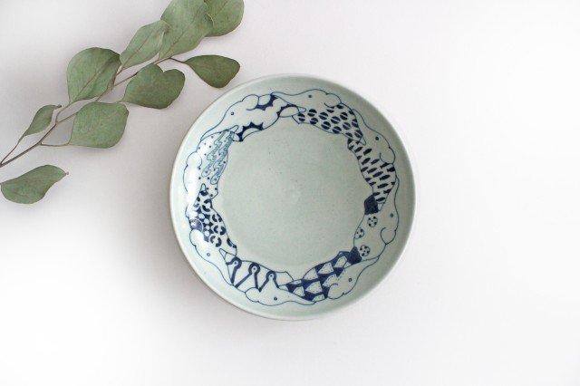 6寸皿 ゾウ柄 陶器 石井桃子