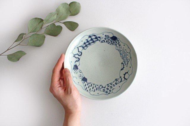 6寸皿 ゾウ柄 陶器 石井桃子 画像3
