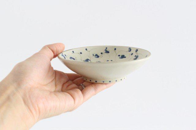 4寸皿 花唐草紋 陶器 石井桃子 画像2